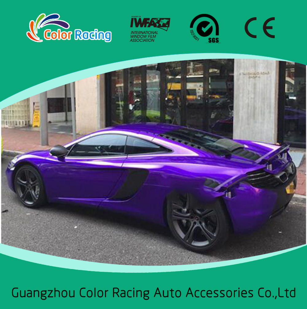 High Quality Glossy Candy Purple Car Color Changing Wrap