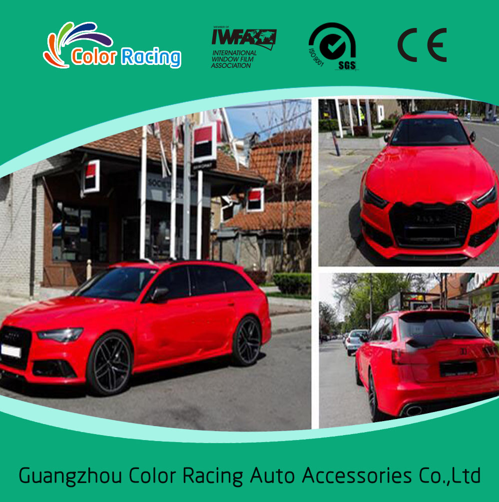 Candy Vinyl Wraps Satin Metallic Chrome Vinyl Wrap Guangzhou Color