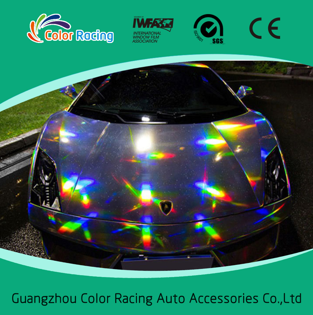 New product color changed chrome laser holographic rainbow film vinyl