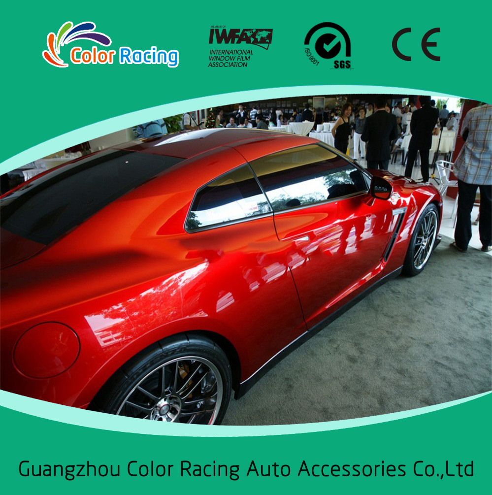 Hot Sale High Glossy Pearl Matallic Chrome Red Car Vinyl Wrap With