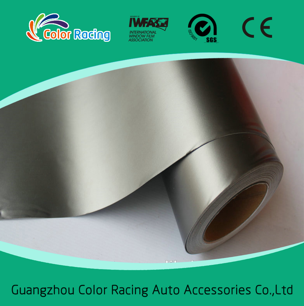 1 52*20m Wholesale Full Body Decoration matte chrome vinyl car wrap