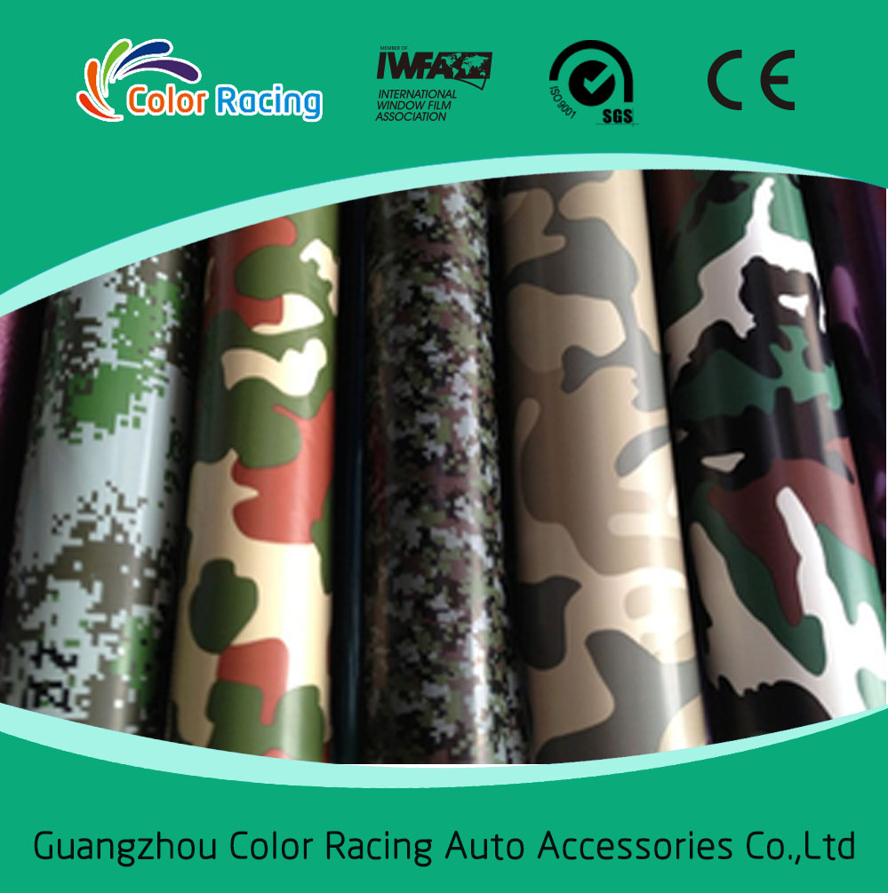 High quality auto stickers custom camouflage with air channel
